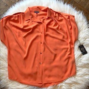 NWT Vince Camuto Orange Oversized Blouse